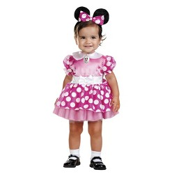 Girls' Minnie Mouse Costume Pink 12-18 Months