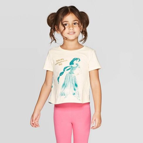 Toddler Girls' Aladdin T-Shirt - White - image 1 of 3