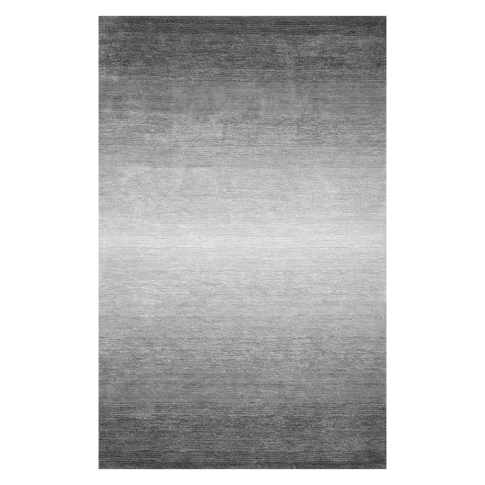 Gray Solid Tufted Area Rug 4'X6' - nuLOOM