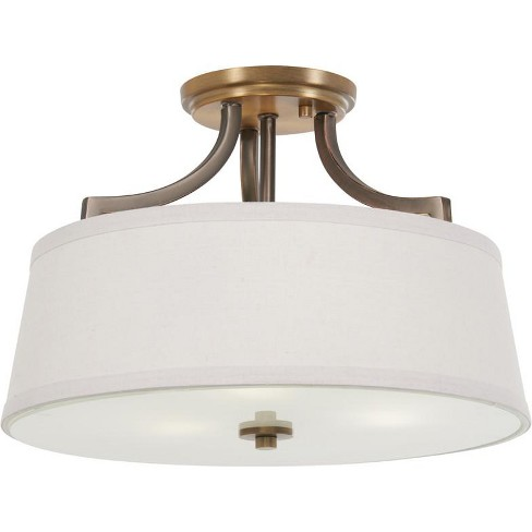 "Minka Lavery 4732 3 Light 15"" Wide Semi-Flush Drum Ceiling Fixture - image 1 of 1"