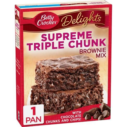 Betty Crocker Supreme Triple Chunk Brownie Mix - 17.8oz - image 1 of 4