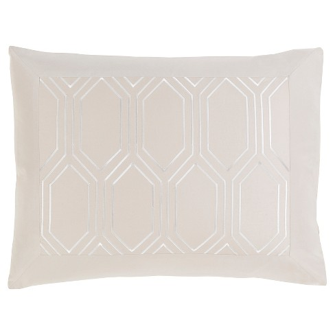 Beslan Geometric Sham Light Gray - Surya® - image 1 of 1