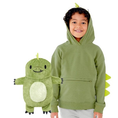 Cubcoats Kids Dayo the Dinosaur 2-in-1 Stuffed Animal & Hooded Pullover Sweatshirt