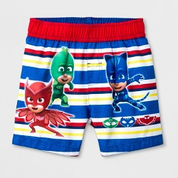 Toddler Boys' PJ Masks Swim Trunks - Blue