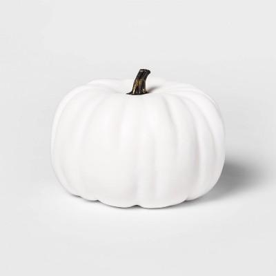 """7.5"""" Medium Painted Pumpkin Cream Halloween Decorative Sculpture - Hyde & EEK! Boutique™"""