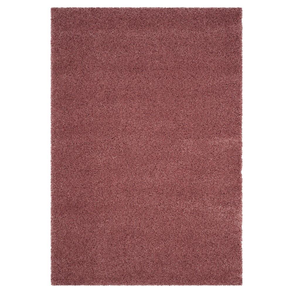 Rose (Pink) Solid Tufted Area Rug - (6'7