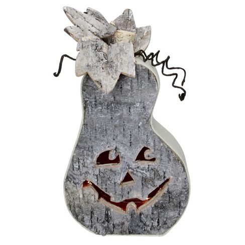 "Northlight 9.5"" Gray LED Battery Operated Jack-O-Lantern Halloween Table Top Decoration - image 1 of 3"