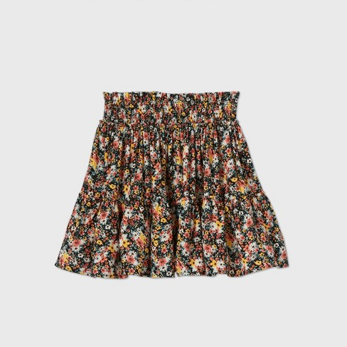 Women's Floral Print Tiered Ruffle Mini Skirt - Wild Fable™ (Regular & Plus) - image 1 of 2