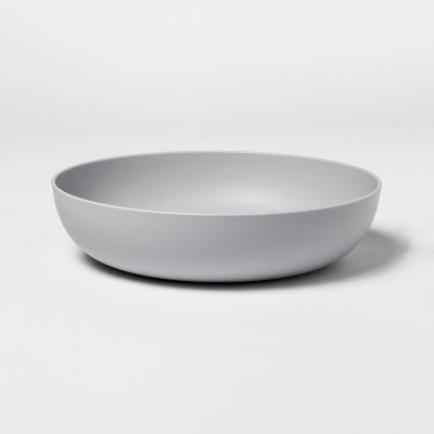 33oz Plastic Dinner Bowl Gray - Room Essentials™