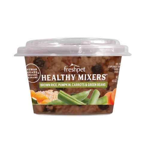 Freshpet - Healthy Mixers - Brown Rice, Pumpkin, Carrots & Green Beans - Refrigerated Wet Dog Food - 4.5oz - image 1 of 3