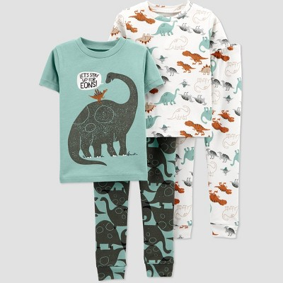 Baby Boys' 4pc Dino Pajama Set - Just One You® made by carter's Green 9M