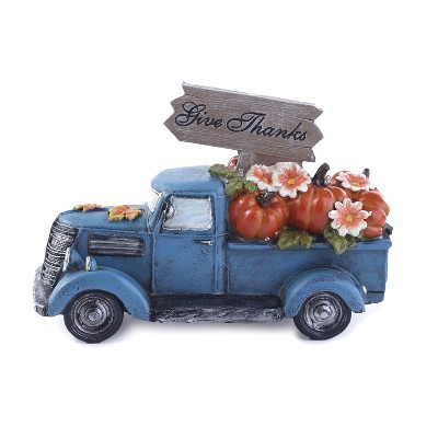 Lakeside Harvest Lighted Pickup Truck with Pumpkins in Rear Bed