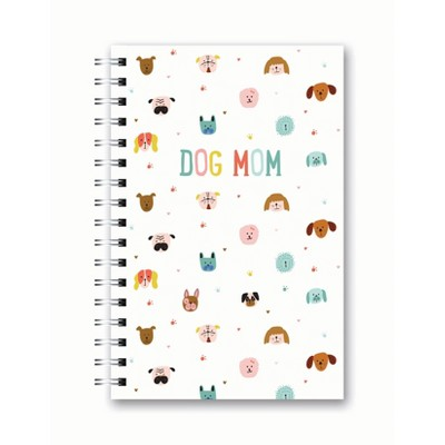 Spiral Notebook 1 Subject College Ruled Dog Mom - OCS Designs