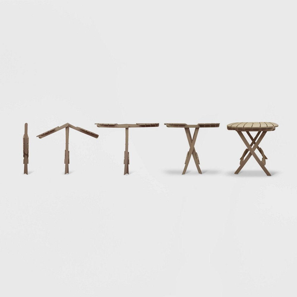 Image of 3pc Patio Quik Fold Café Set Portobello - Adams
