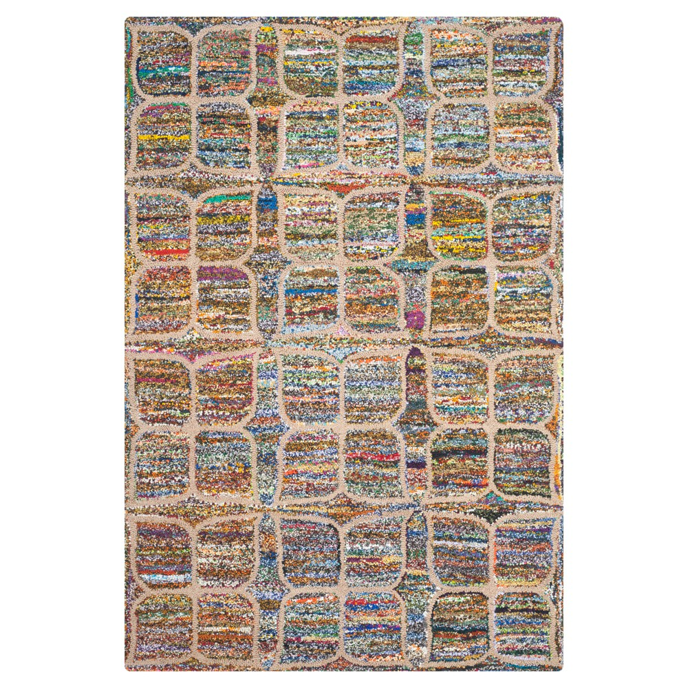Multi-Colored Abstract Tufted Area Rug - (5'x8') - Safavieh