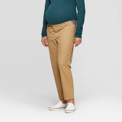 Mid-Rise Side Panel Slim Straight Ankle Maternity Chino Pants - Isabel Maternity by Ingrid & Isabel™ - image 1 of 4