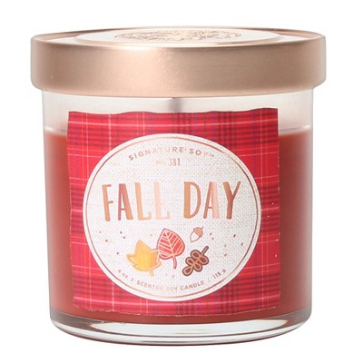 4oz Small Lidded Jar Candle Fall Day - Signature Soy
