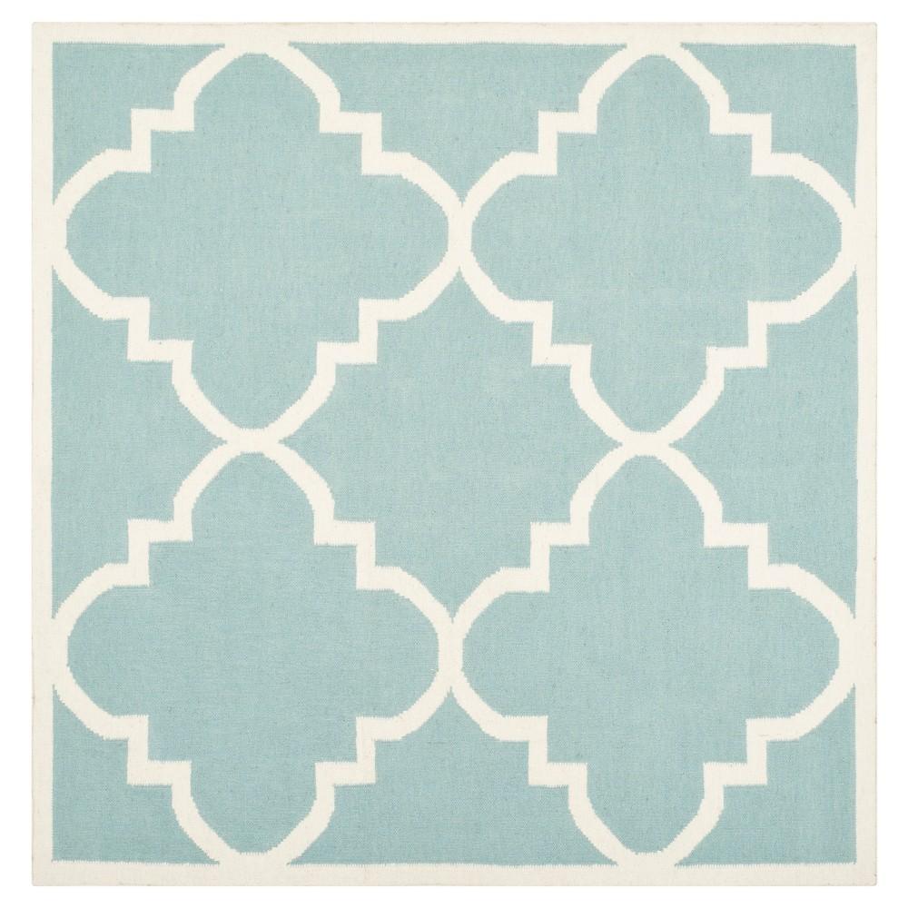 Mazagan Dhurry Rug - Light Blue/Ivory - (6'x6' Square) - Safavieh