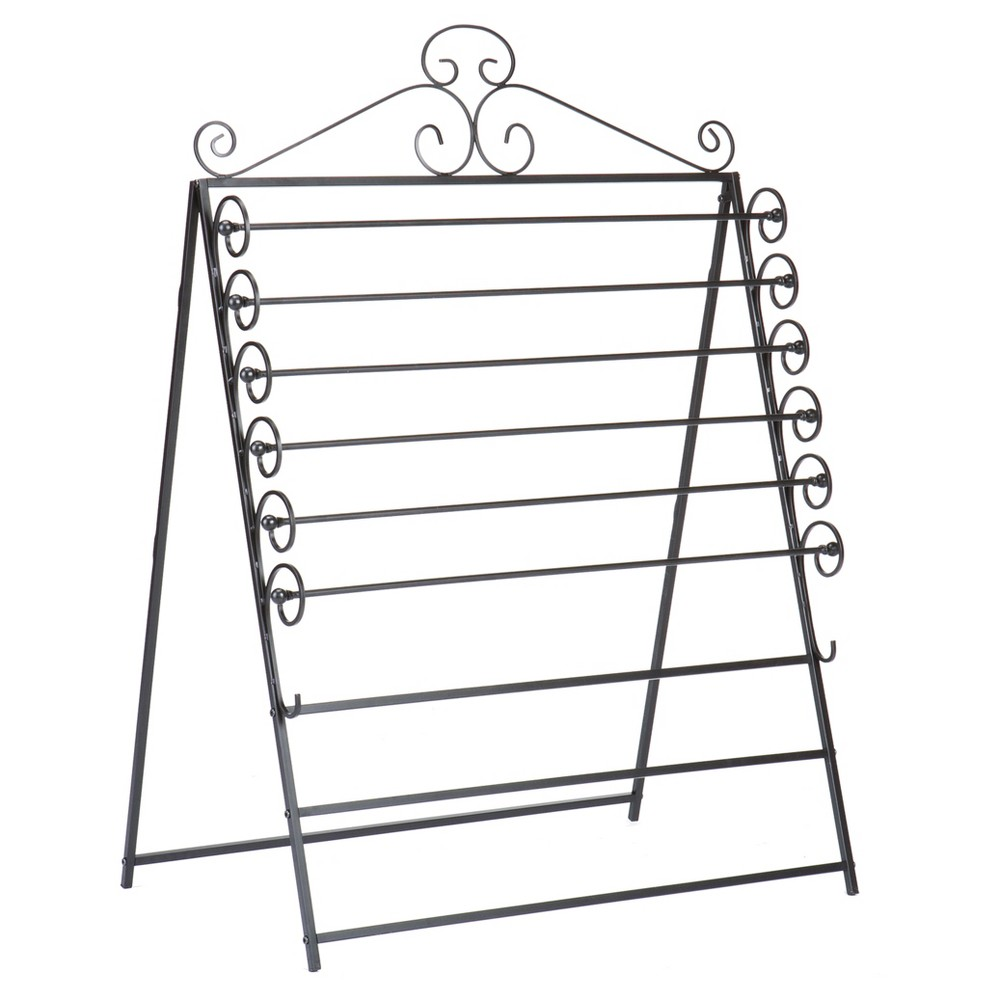 Easel/Wall Mount Craft Storage Rack - Black - Aiden Lane