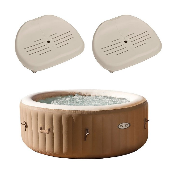 Intex PureSpa 4 Person Inflatable Hot Tub Spa + Slip-Resistant Seats (2 Pack) - image 1 of 6
