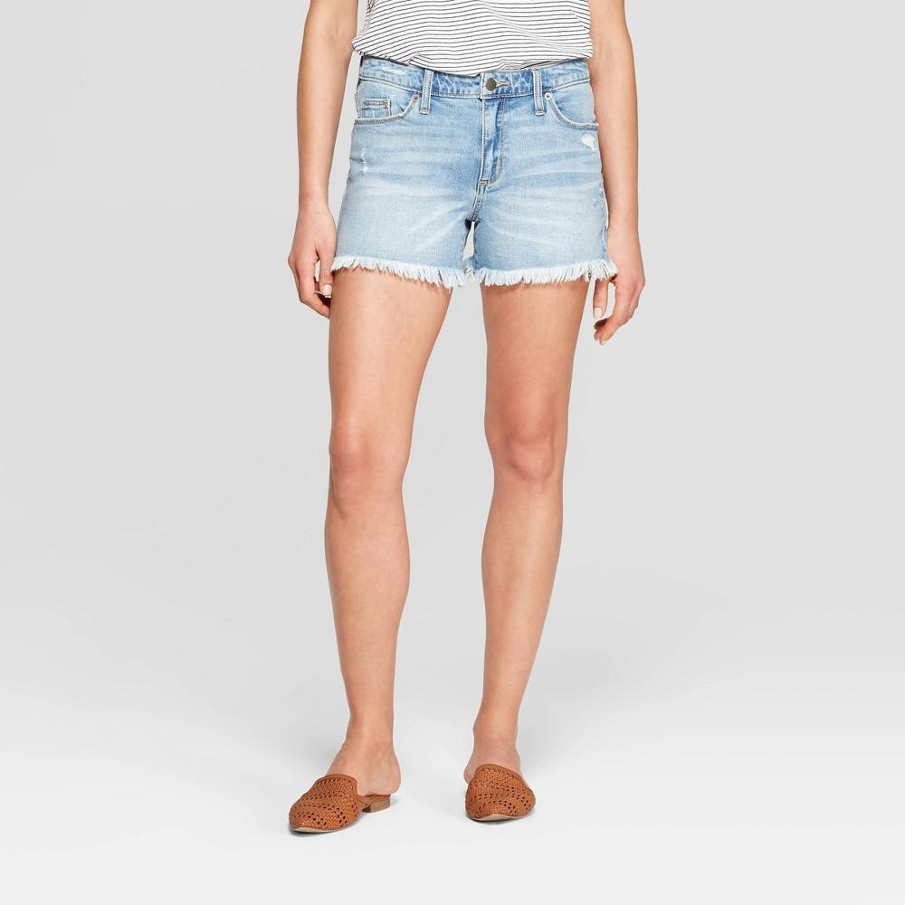 Women's High-Rise Jean Shorts - Universal Thread Light Wash 18, Blue