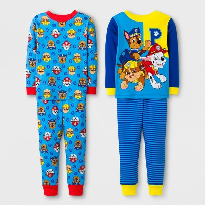 Toddler Boys' 4pc PAW Patrol Pajama Set - Navy 4T