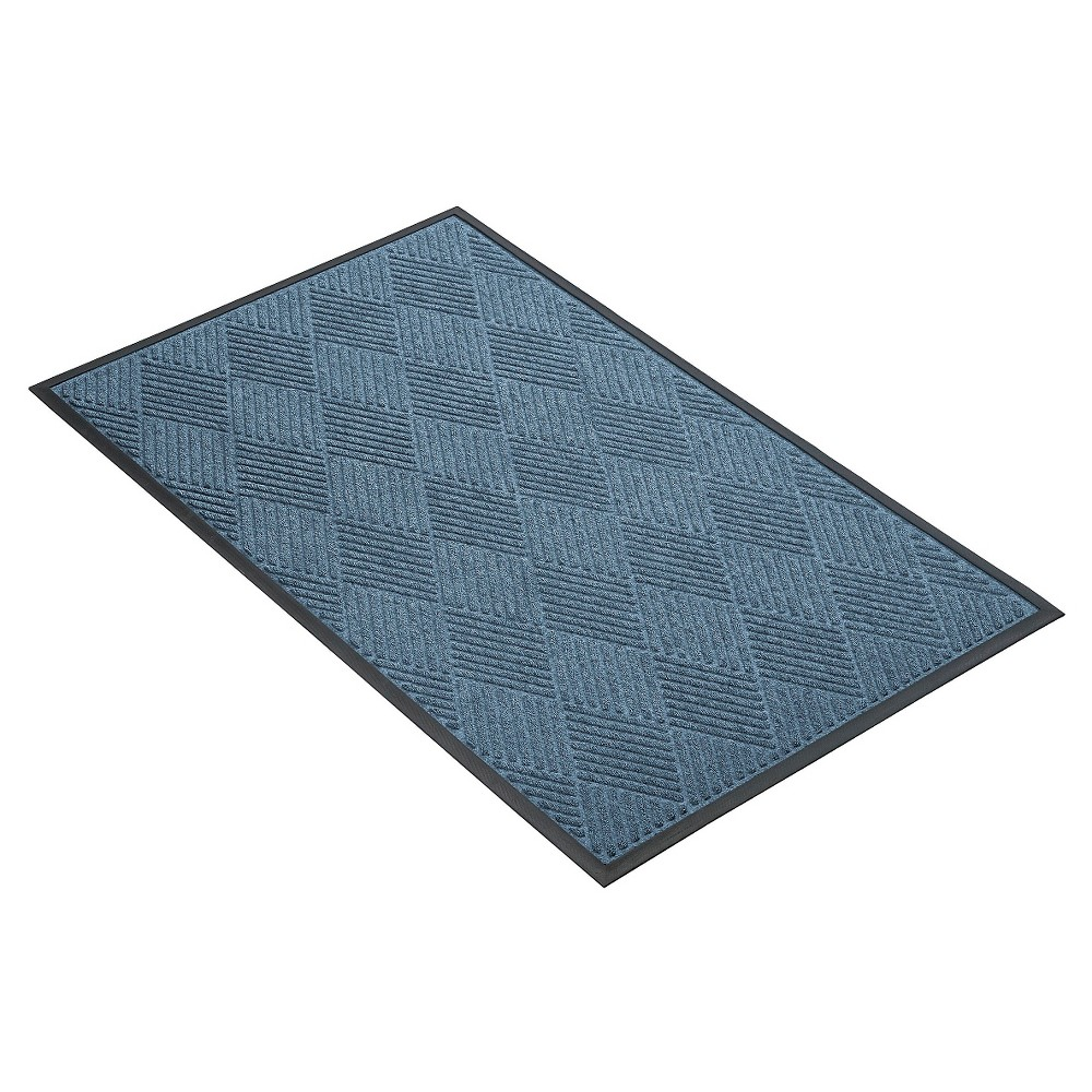 Image of Blue Solid Doormat - (4'X6') - HomeTrax