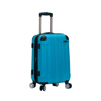 """Rockland Sonic 20"""" Expandable Hardside Carry On Spinner Suitcase - Turquoise"""