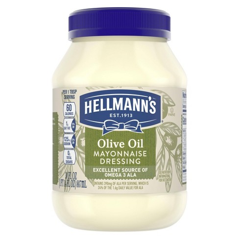 Hellmann's Mayonnaise Dressing with Olive Oil 30oz - image 1 of 4