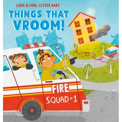 Things That Vroom! - (Look & Find, Clever Baby)by Olga Utkina (Board Book)