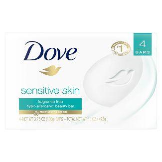 Dove Sensitive Skin Unscented Beauty Bar Soap - 3.75oz/4ct