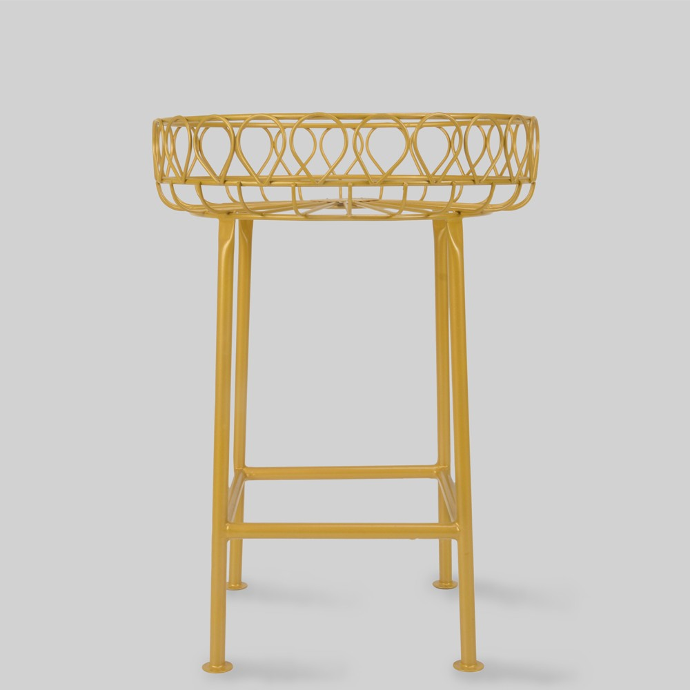 12 Mild Steel Plant Stand Gold - Opalhouse