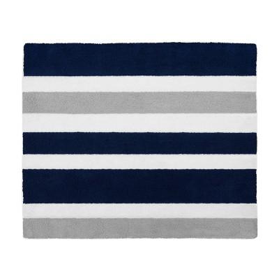 Navy & Gray Stripe Floor Rug (36 x36 )- Sweet Jojo Designs