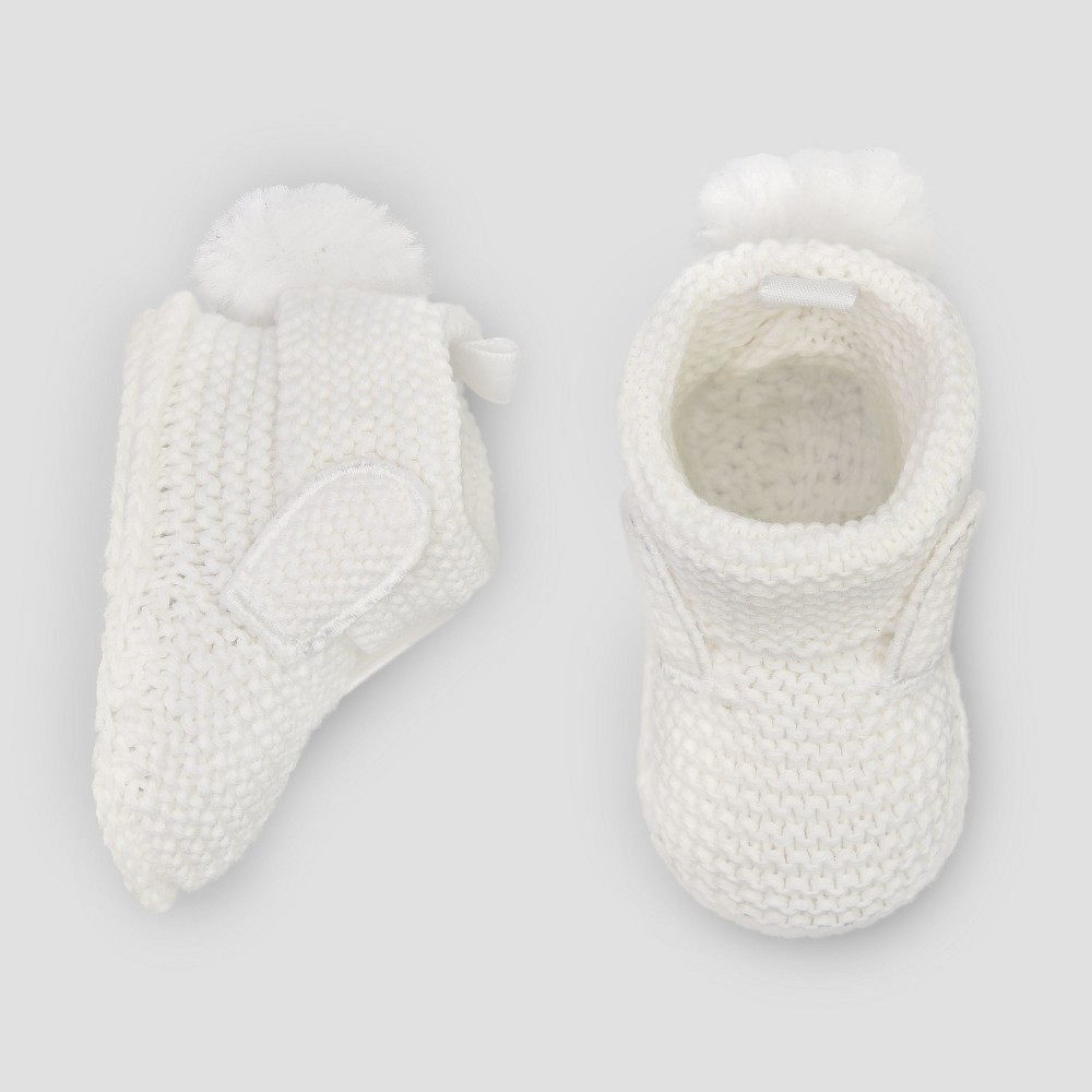 Baby Girls' Knitted Easter Bunny Slipper Booties - Just One You made by carter's Pink/White Newborn