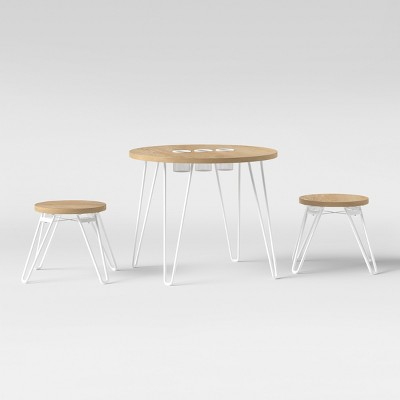 Landry Round Activity Table With Stools Natural - Pillowfort™