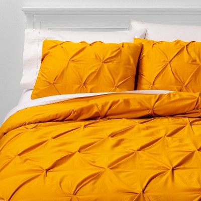 King Pinch Pleat Comforter & Sham Set Citron - Threshold™
