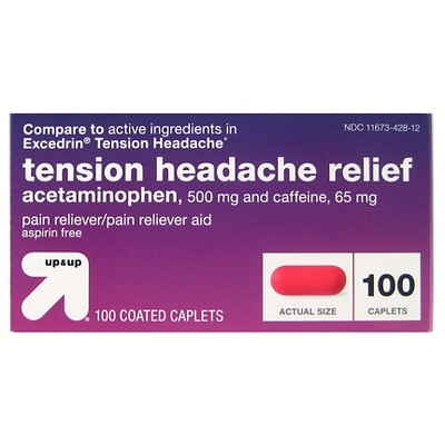 Acetaminophen Tension Headache Coated Caplets- 100ct - up & up™
