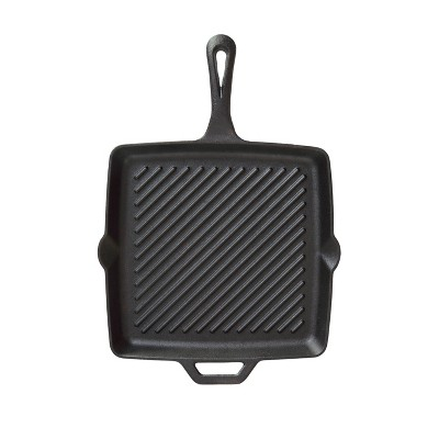 Camp Chef 11  Square Cast Iron Skillet with Ribs - Black