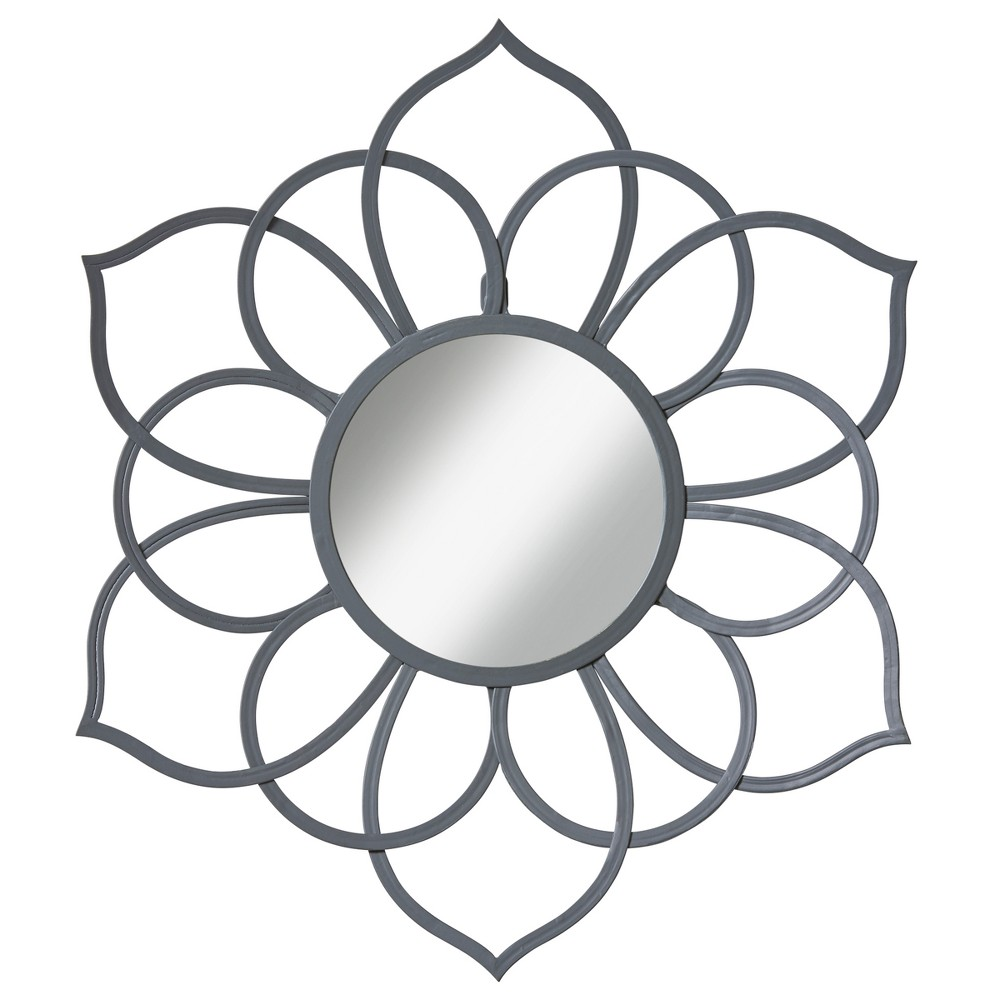 Image of Brienne Decorative Wall Mirror Gray 24x21 - Kate & Laurel