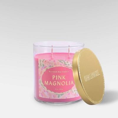 15.1oz Lidded Glass Jar 2-Wick Candle Pink Magnolia - Opalhouse™