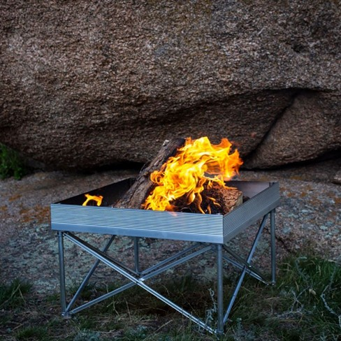 Camping Fire Pit >> Fireside Outdoor Portable Folding Outdoor Pop Up Camping Campfire