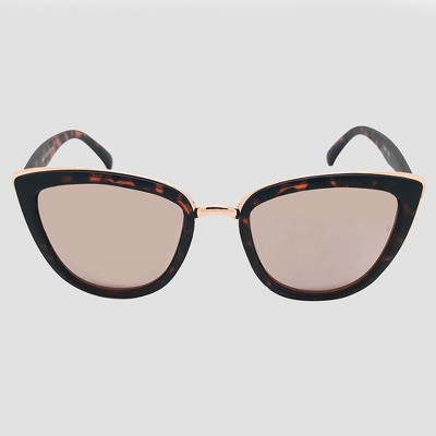 Women's Cateye Tort Sunglasses - Wild Fable™ Brown
