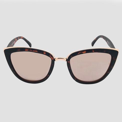 797fbef094 Women s Cateye Tort Sunglasses - Brown   Target