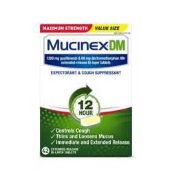 Mucinex Maximum Strength Cough & Congestion Relief Extended Release Tablets - Guaifenesin - 42ct