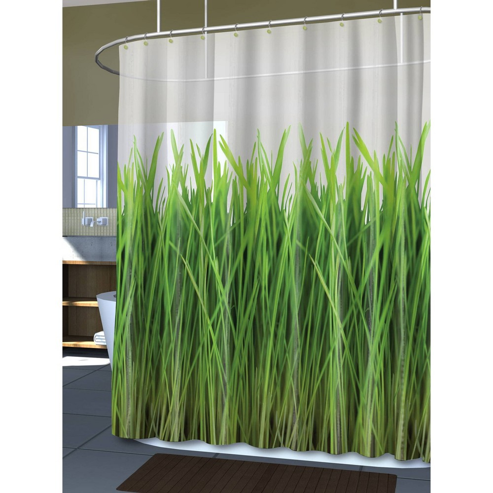 Image of Grass EVA Shower Curtain - Green