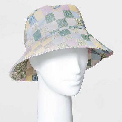 Women's Patchwork Bucket Hat - Universal Thread™ Blue
