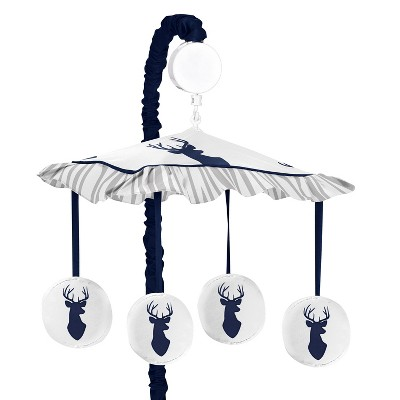 Sweet Jojo Designs Musical Crib Mobile - Navy & White Stag