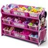 9 Bin Disney Minnie Mouse Plastic Toy Organizer - Delta Children - image 2 of 4