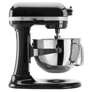 KitchenAid Professional 600 Series 6-Quart Bowl-Lift Stand Mixer - KP26M1X, Black Black