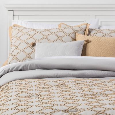 5pc King Felix Comforter Set Gray